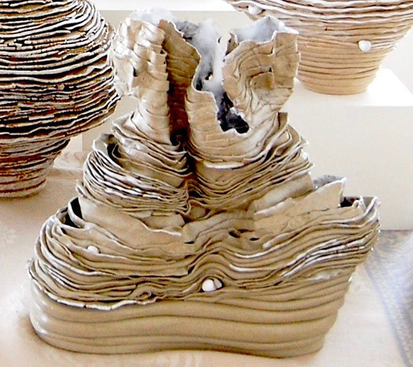 Cave | Stoneware with white glaze and oxides