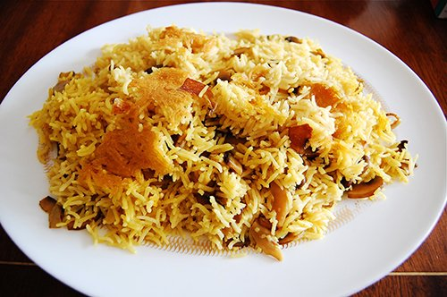 FOOD-Basmati rice with mushrooms