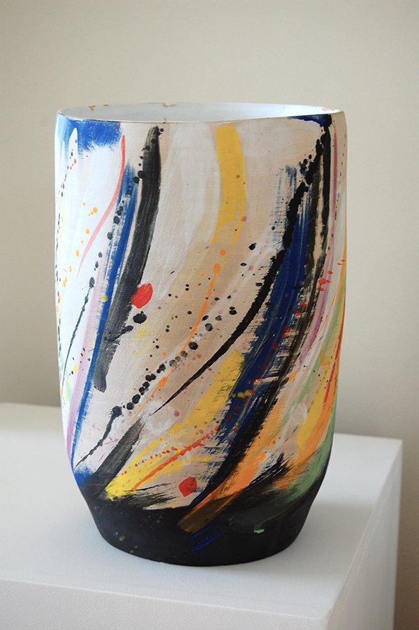 Kandinsky | Stoneware, stains, white glaze