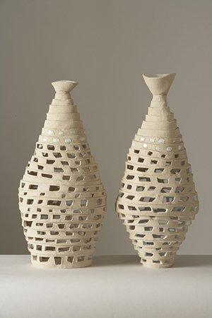 King & Queen of Ur | Stoneware, white glaze