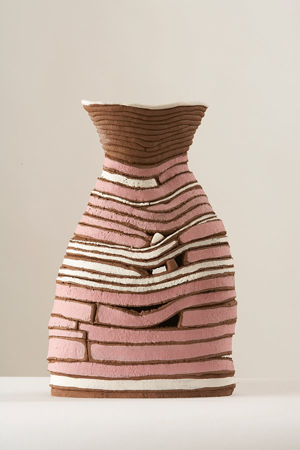 Pink | Grogged earthenware, oxides, stains