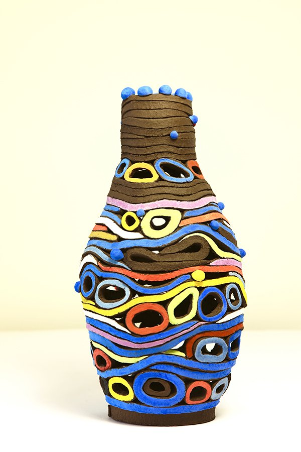 Priestess | Grogged earthenware, oxides, stains,