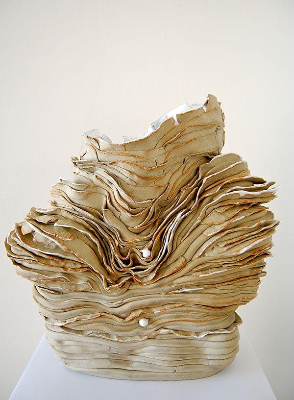 Sea shell | Stoneware, oxides, white glaze