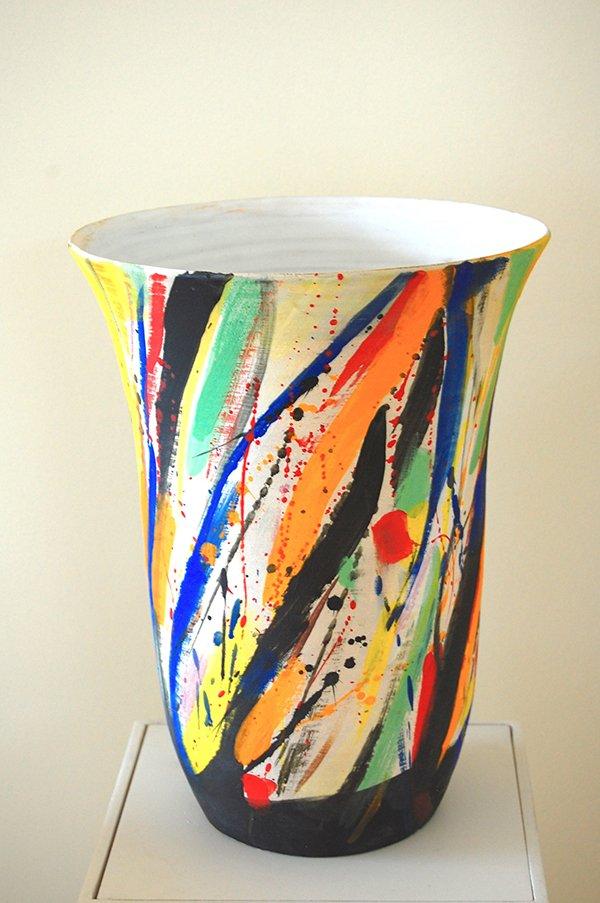 Untitled | Stoneware, stains, white glaze