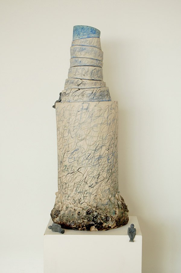 Tower of Babel  |  Stoneware, stains, oxides, white glaze copy