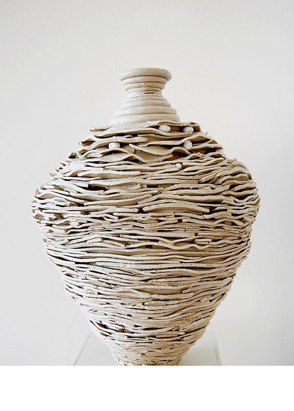 Urn | Stoneware, oxides, white glaze