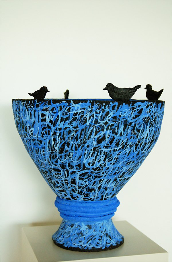 Untitled | earthenware, black stain, oxides, underglazes.