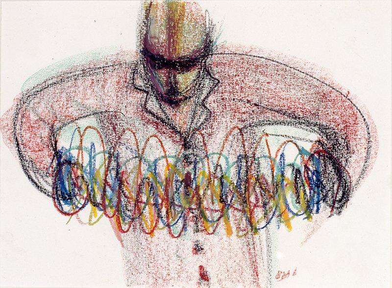 Figure_ Pastels on paper