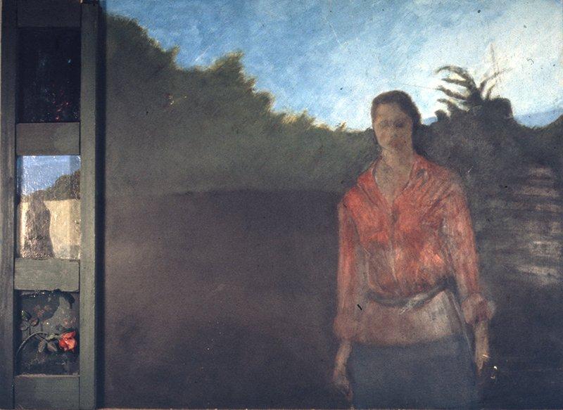 Figure_ oil paint on board.
