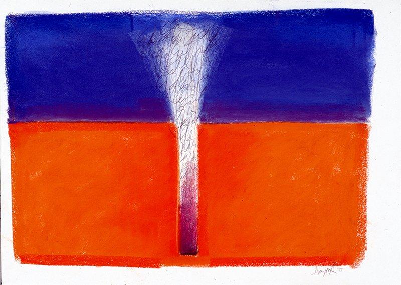 Geyser | Pastel, pencil on paper