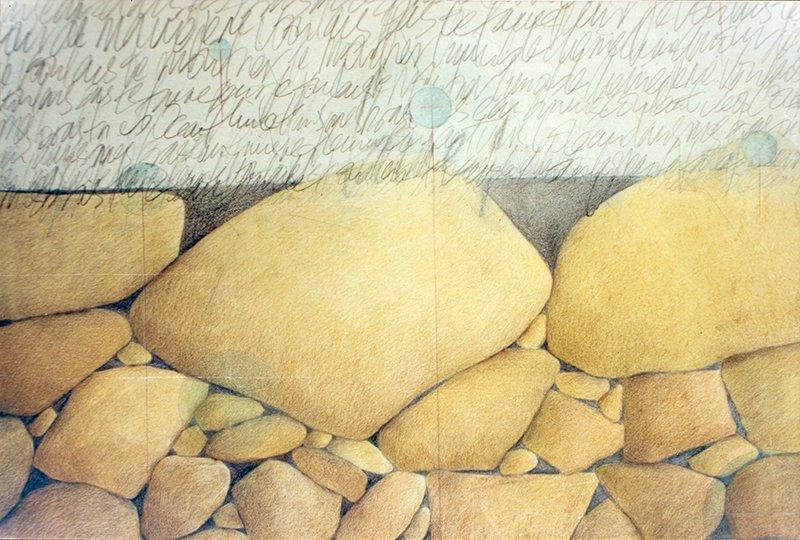 Landscape | Pencil, pastels on paper