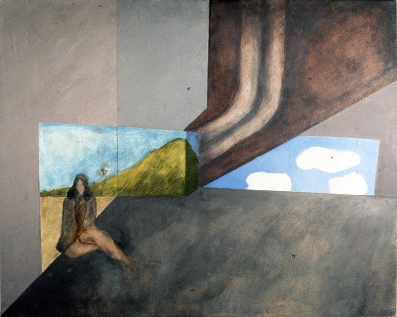 Landscape_ oil paint on board.