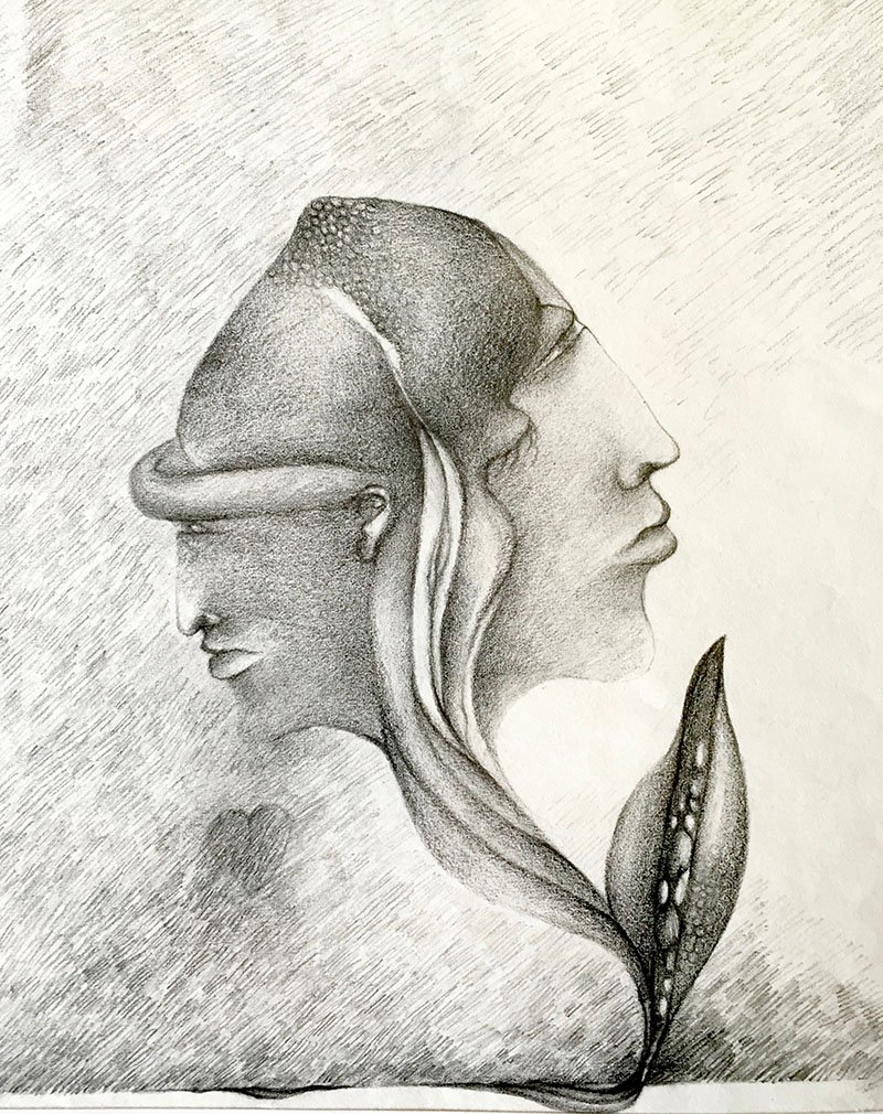 Two | Pencil on paper